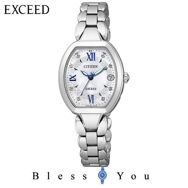 シチズンCITIZEN 腕時計 EXCEED エクシード Eco-Drive エコ・ドライブ 電波時計 ES8060-65W レディース