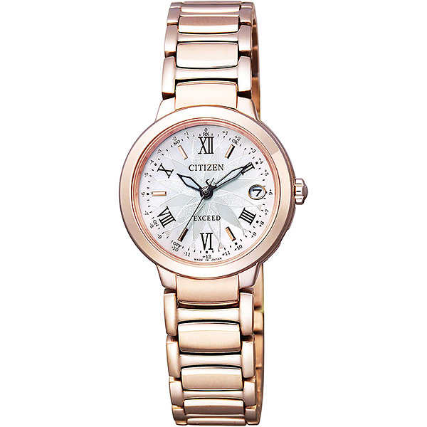 CITIZEN EXCEED シチズン 電波ソーラー レディース 腕時計 エクシード ES9322-57W 110,0
