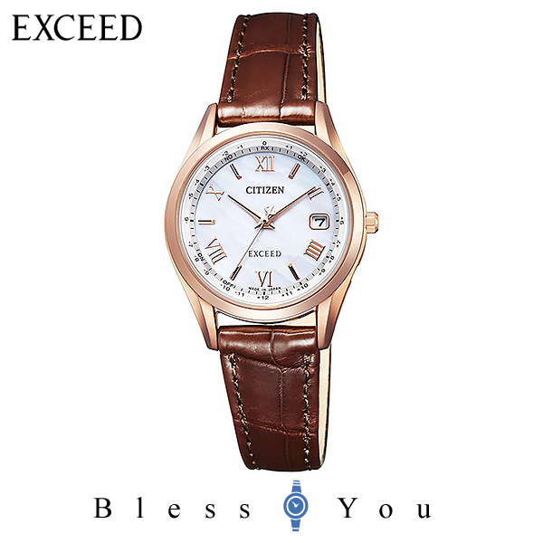 CITIZEN EXCEED シチズン 電波ソーラー レディース 腕時計 エクシード ES9372-08W 100,0