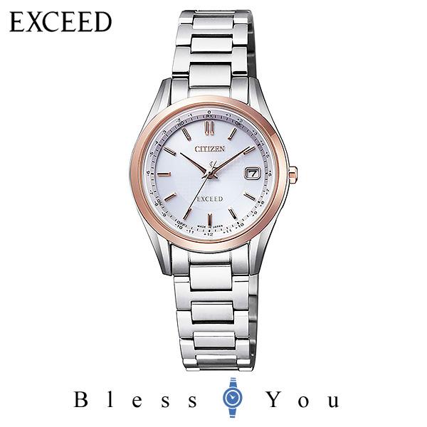CITIZEN EXCEED シチズン 電波ソーラー レディース 腕時計 エクシード ES9374-53A 100,0