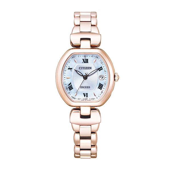 CITIZEN EXCEED シチズン ソーラー電波 腕時計 レディース エクシード ES9454-56A 140,0