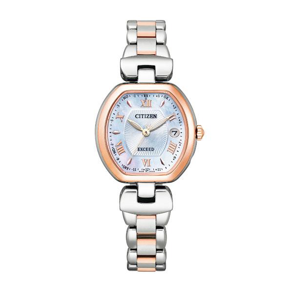 CITIZEN EXCEED シチズン ソーラー電波 腕時計 レディース エクシード ES9455-53A 140,0