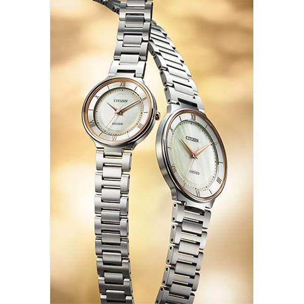 CITIZEN EXCEED シチズン ソーラー 腕時計 レディース エクシード ペアモデル EX2090-57P 65,0