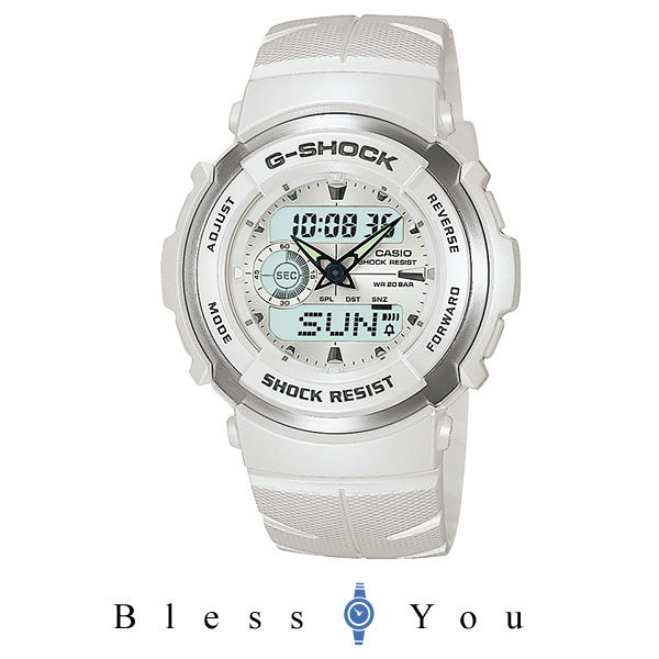 Gショック カシオ G-スパイク・スノーホワイト(白) G-300LV-7AJF 腕時計 G-SHOCK 時計 ギフト 12,0
