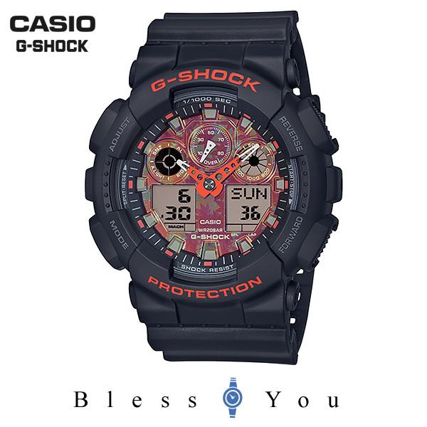 CASIO G-SHOCK カシオ 腕時計 メンズ Gショック 京もみじ 2019年9月新作 GA-100TAL-1AJR 17,0