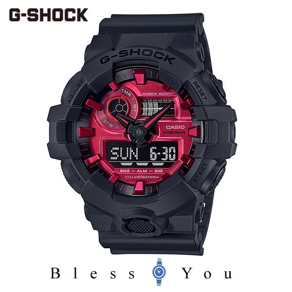CASIO G-SHOCK カシオ 腕時計 メンズ Gショック 2019年10月新作 ブラック&レッド GA-700AR-1AJF 16,0