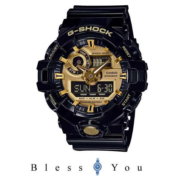 カシオ Gショック メンズ 腕時計  GA-710GB-1AJF 18,5 新品お取り寄せ
