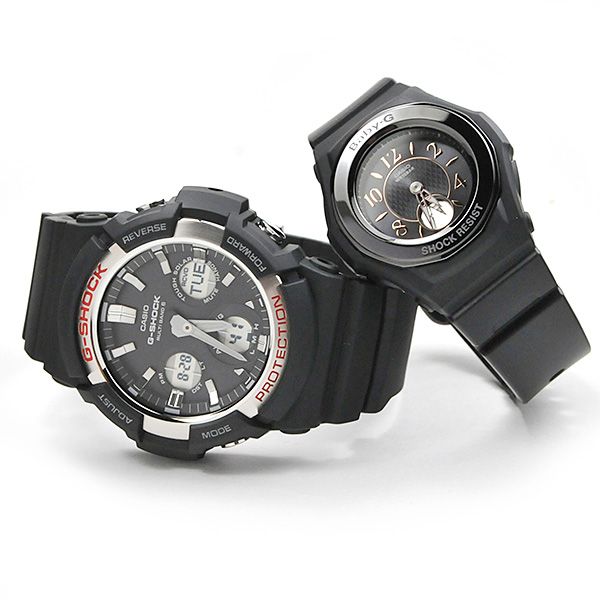 ペアウォッチ Gショック 電波 ソーラー G-shock & Baby-G GAW-100-1AJF-BGA-1050B-1BJF 48,0