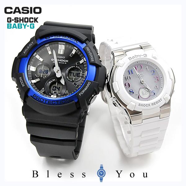 カシオ ペアウォッチ 電波ソーラー 腕時計 Gショック&ベビーG G-shock&Baby-G GAW-100B-1A2-BGA-1100GR-7BJF 48,0
