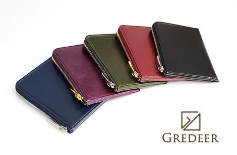 GREDEER 松阪レザー ハーフL字ファスナー財布 GCKM002 10,0