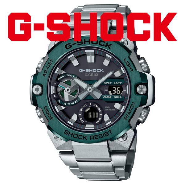 G-SHOCK Gショック ソーラー 腕時計 メンズ CASIO カシオ 2021年10月 G-STEEL GST-B400CD-1A3JF 54,0