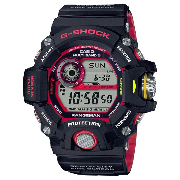 G-SHOCK Gショック ソーラー電波 腕時計 メンズ CASIO カシオ 2020年7月新作 緊急消防救助隊タイアップ RANGEMAN GW-9400NFST-1AJR 50,0