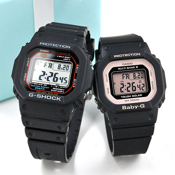 ペアウォッチ ジーショック デジタルペア ブラック G-shock & Baby-G GW-M5610U-1JF-BGD-5000U-1BJF 38,0