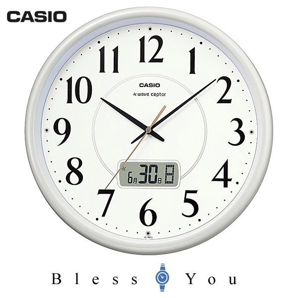 casio カシオ 掛け時計 アナログ 電波時計 フルオートカレンダー IC-1001J-9JF 7,0