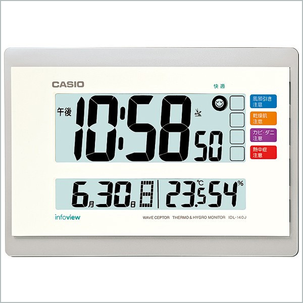 カシオ 置き時計 クロック IDL-140J-7JF 5,5