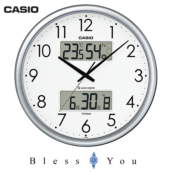 casio カシオ 掛け時計 湿度・温度計付 電波時計 ITM-650J-8JF 8,0