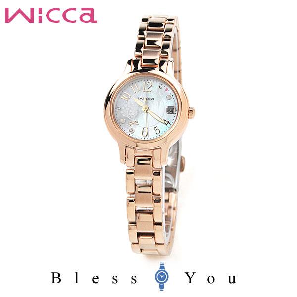 CITIZEN WICCA シチズン ソーラー 腕時計 レディース ウィッカ KH4-963-91 25,0 清楚な花、カスミ草をイメージした限定モデル
