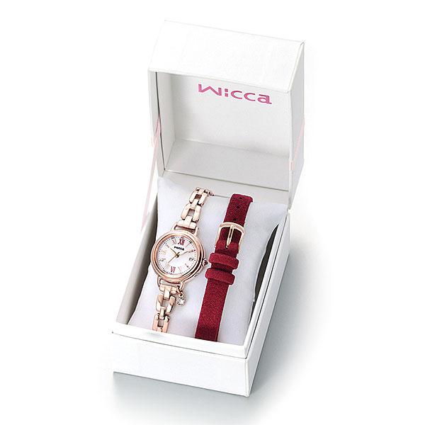 wicca ウィッカ 替えバンド付 ソーラー電波 腕時計 レディース KL0-561-15