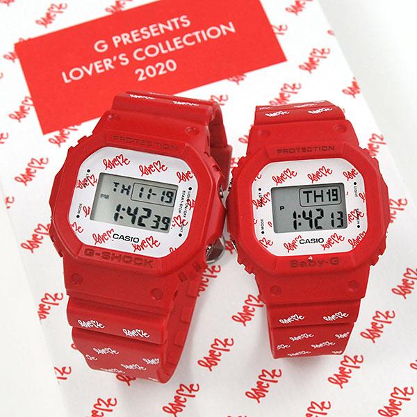 ラバーズコレクション2020 CASIO G-SHOCK カシオ 腕時計 ペアウォッチ Gショック 2020年11月新作 ラバーズコレクション LOV-20B-4JR 22,5