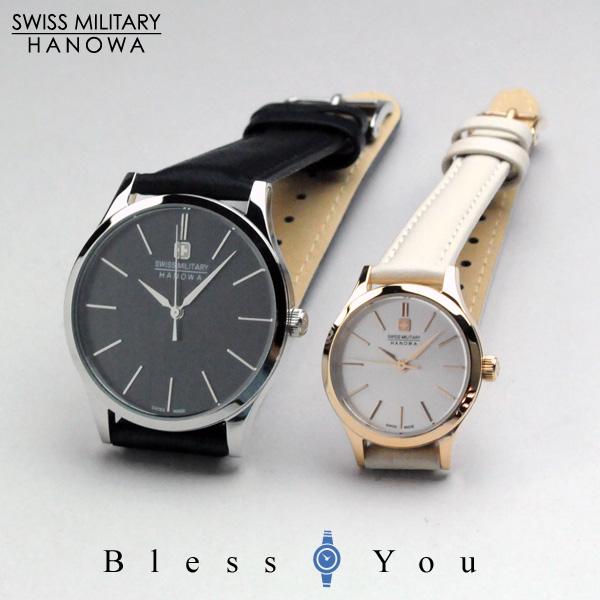 スイスミリタリー ペアウォッチ プリモ(bk&sv) レザーバンド【腕時計 ペア カップル ブランド ウォッチ】/ SWISS MILITARY PRIMO ML411-ML413 30,0 *この商品は名入れできません