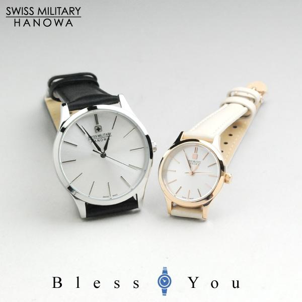 スイスミリタリー ペアウォッチ プリモ(sv&sv) レザーバンド【腕時計 ペア カップル ブランド ウォッチ】/ SWISS MILITARY PRIMO ML412-ML413 30,0 *この商品は名入れできません