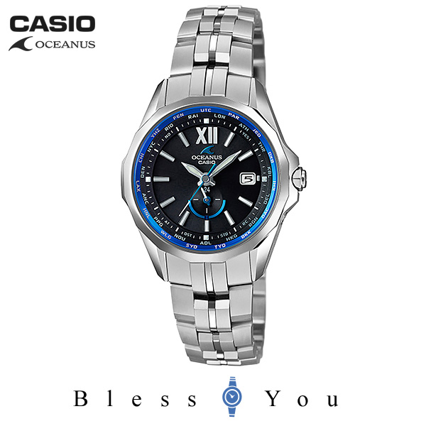 CASIO OCEANUS カシオ ソーラー電波 腕時計 レディース OCW-S340-1AJF 160,0