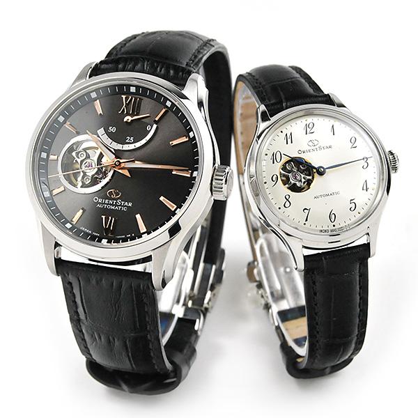 [令和元年5月発売]ペアウォッチ オリエントスター ペアウォッチ 機械式時計 RK-AT0007N-RK-ND0007S 110,0 皮革 レザーバンド