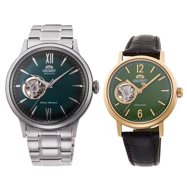 オリエント オープンハート ペアウォッチ 機械式時計 RN-AG0015E-RN-AG0020E 71,0 olive/green 10n