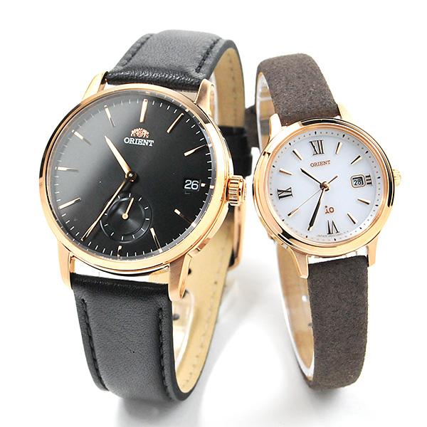 オリエント ペアウォッチ 腕時計 RN-SP0003B-RN-WG0414S 42,0 限定数 レザーバンド 皮革 カップル ブランド