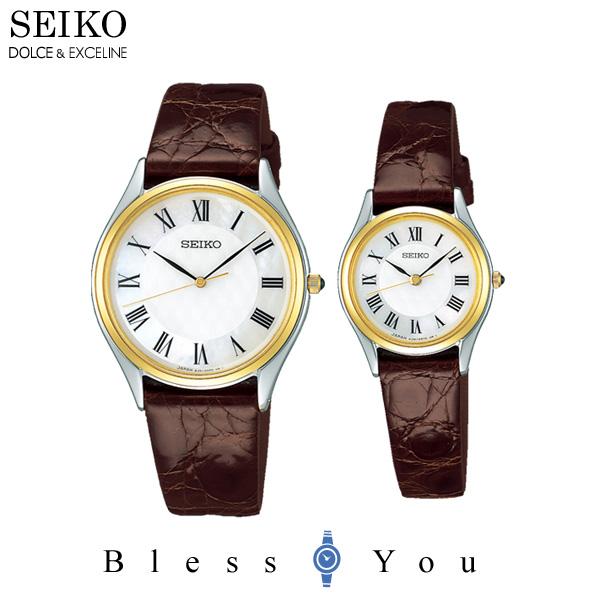 SEIKO セイコー ドルチェ & エクセリーヌ ペアウォッチ 腕時計 SACM152-SWDL162 110,0 革ベルト