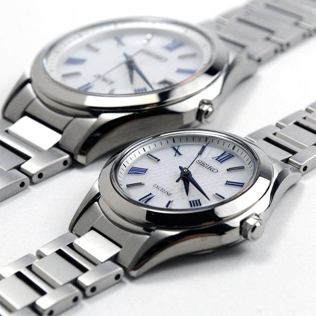 SEIKO セイコー ドルチェ & エクセリーヌ ペアウォッチ 腕時計 ソーラー電波 SADM007-SWCP007 150,0