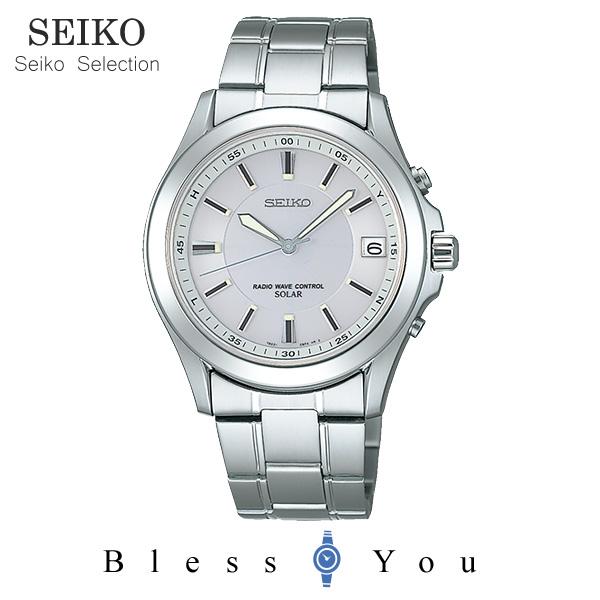 ソーラー 電波時計 セイコーセレクション スピリット メンズ 腕時計 SBTM019 新品お取り寄せ 38,0