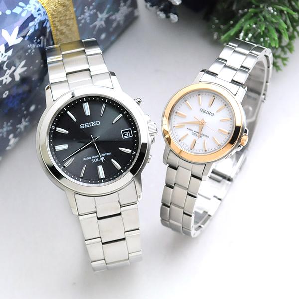 セイコー 腕時計 ソーラー電波 スピリット ペアウォッチ SEIKO SBTM169-SSDY018 (ssdt048) 100,0