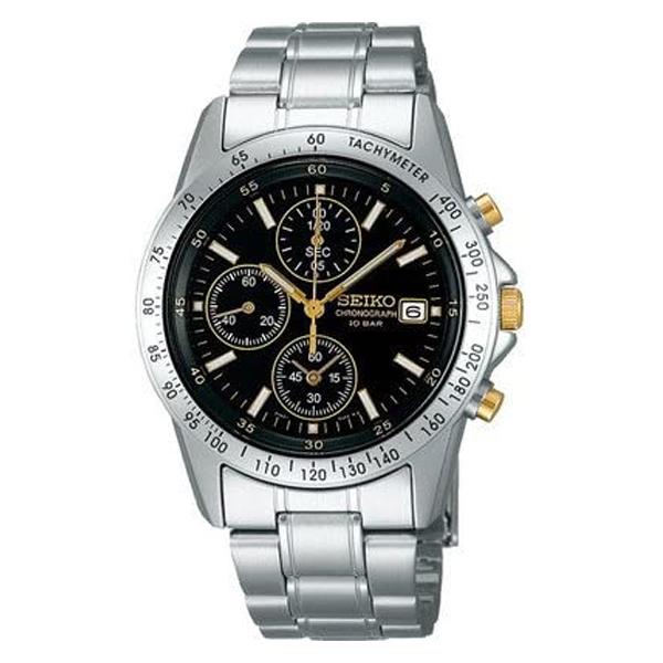 セイコー クロノグラフ 腕時計 スピリット2 SEIKO SBTQ043 15,0 ブラック ギフト