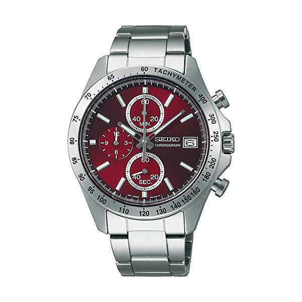 セイコー 腕時計 メンズ セイコーセレクション SBTR001 レッド クロノグラフ 30,0