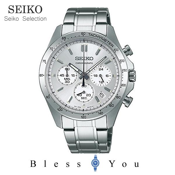 セイコー 腕時計 メンズ セイコーセレクション SBTR009 シルバー クロノグラフ 30,0