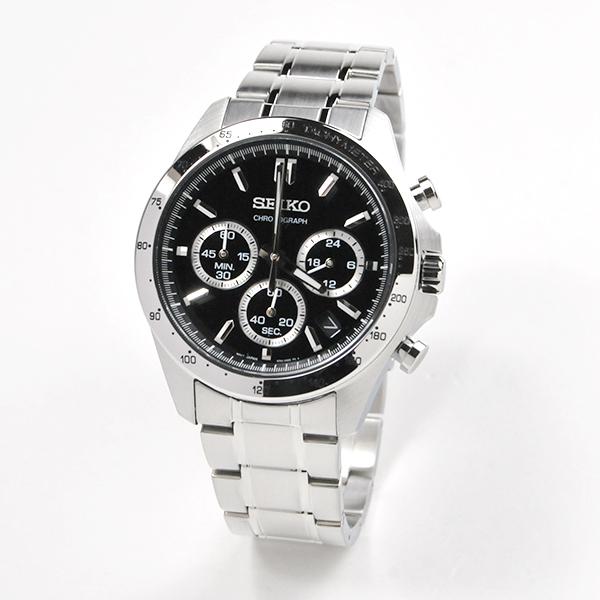 セイコー 腕時計 メンズ セイコーセレクション SBTR013 ブラック クロノグラフ 30,0