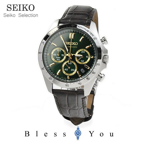 セイコーセレクション クロノグラフ 腕時計 SEIKO SBTR017 30,0 8Tクロノグラフ スピリット2 レザーバンド 皮革 記念日 ギフト 贈り物 男性 父の日