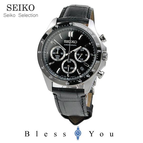 セイコーセレクション クロノグラフ 腕時計 SEIKO SBTR021 30,0 8Tクロノグラフ スピリット2 レザーバンド 皮革 記念日 ギフト 贈り物 男性 父の日