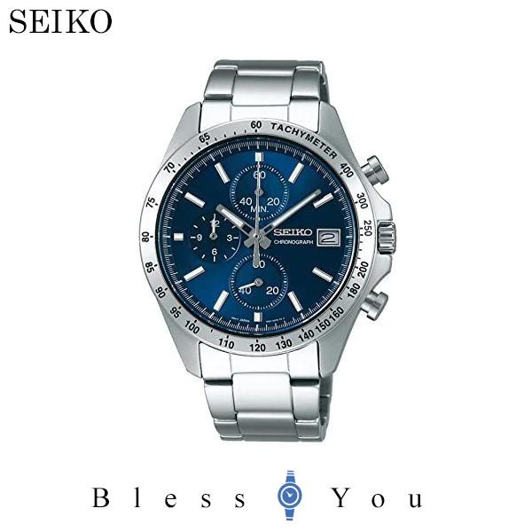 セイコー 腕時計 メンズ セイコーセレクション SBTR023 ブルー クロノグラフ 30,0