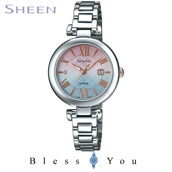 CASIO SHEEN カシオ ソーラー 腕時計 レディース シーン 2019年10月新作 バンドセット サファイヤモデル SHS-4502LTE-7AJR 33,0
