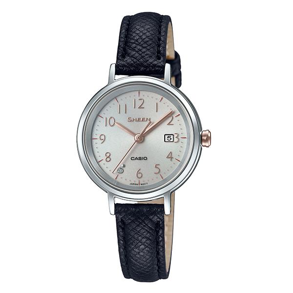 CASIO SHEEN カシオ ソーラー 腕時計 レディース シーン 2019年2月新作 革バンド SHS-D100L-4AJF 20,0