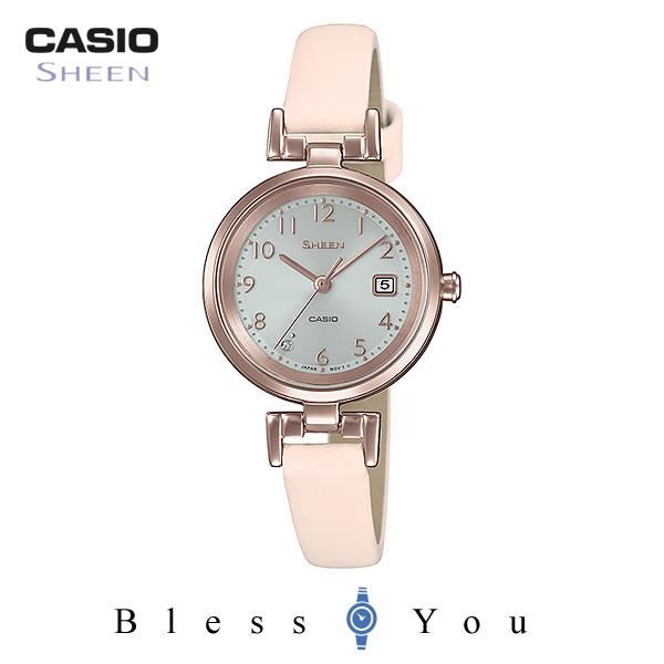 CASIO SHEEN カシオ ソーラー 腕時計 レディース シーン 2019年2月新作 革バンド SHS-D200CGL-4AJF 22,0