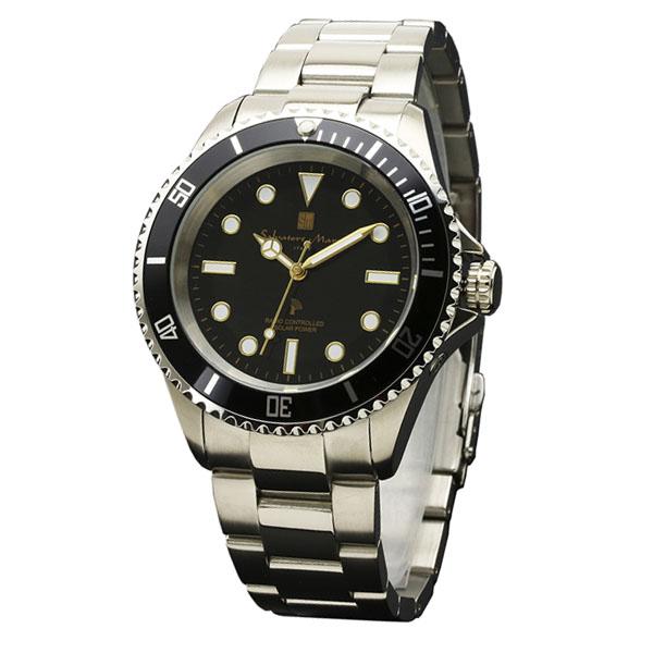 サルバトーレマーラ 電波 ソーラー SM16103-SSBKGD 38.0-12 SALVATORE MARRA 10気圧防水 ダイバーズデザイン 腕時計 メンズ