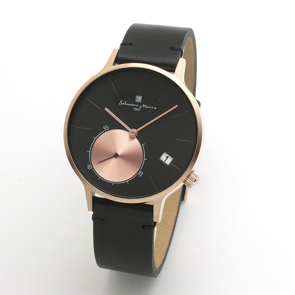 サルバトーレマーラ メンズ 腕時計 SALVATORE MARRA SM20105-PGBK 28.0