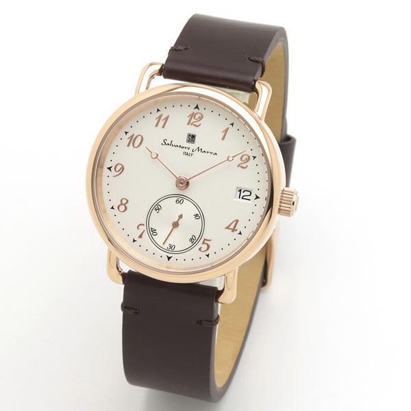 サルバトーレマーラ メンズ 腕時計 SALVATORE MARRA SM20106-PGWHBR 28.0