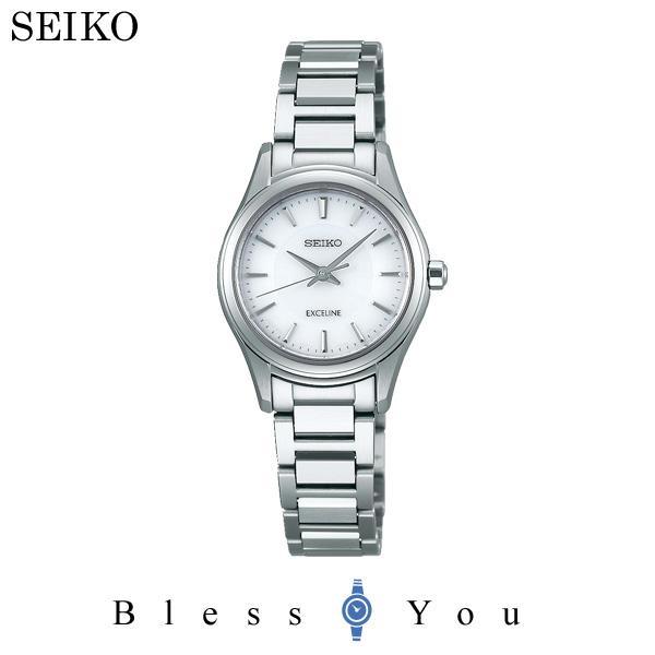 セイコー ソーラー 腕時計 レディース エクセリーヌ SEIKO EXCELINE ペアモデル SWCQ091 50,0