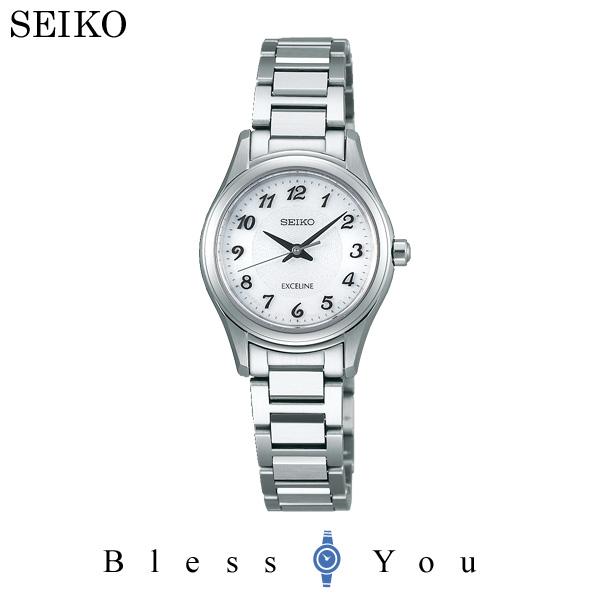 セイコー ソーラー 腕時計 レディース エクセリーヌ SEIKO EXCELINE ペアモデル SWCQ093 50,0