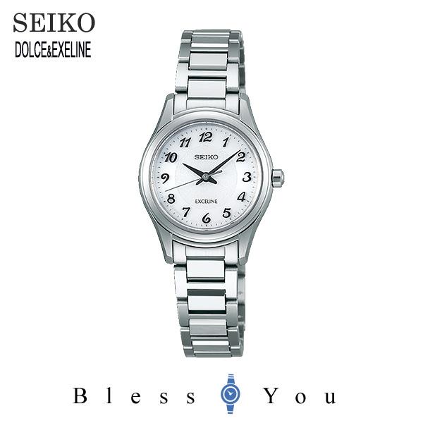 2017年10月 セイコー ソーラー 腕時計 レディース エクセリーヌ SEIKO EXCELINE ペアモデル SWCQ093 50,0
