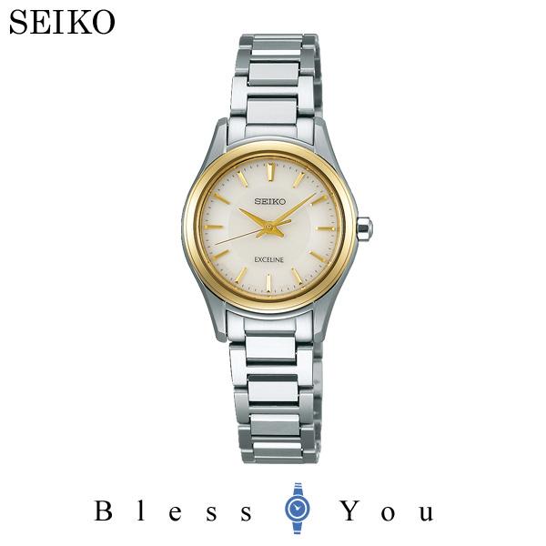 セイコー ソーラー 腕時計 レディース エクセリーヌ SEIKO EXCELINE ペアモデル SWCQ094 50,0